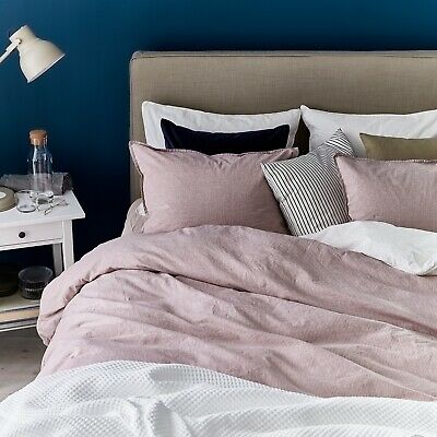 New IKEA BERGPALM King Duvet Cover And 2 Pillowcases, White / Pink Striped • 33.29£