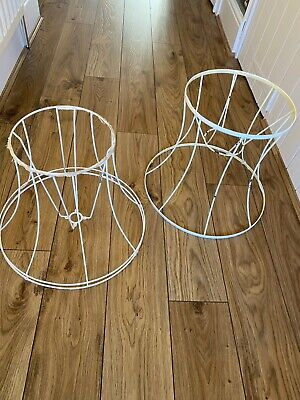 Job Lot Vintage Lampshade Wire Frame Upcycle Lampshade Making Prop Display Pair • 10£