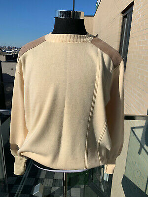 $114 • Buy ⭐️  Men's Burberry Wool / Suede  Hunting / Field Sweater Xl   ⭐️
