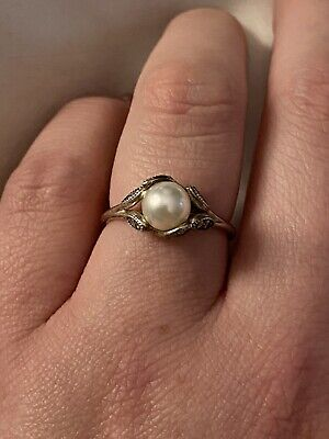 Authentic Pandora Pearl Ring Size 54 • 20£