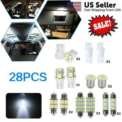 $8.49 • Buy 28* White LED Interior Package Kit For T10 31 36mm Map Dome License Plate Lights
