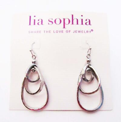 $ CDN0.13 • Buy M18 Lia Sophia Fashion Jewelry Free Flyer Earrings In Silver RV$36