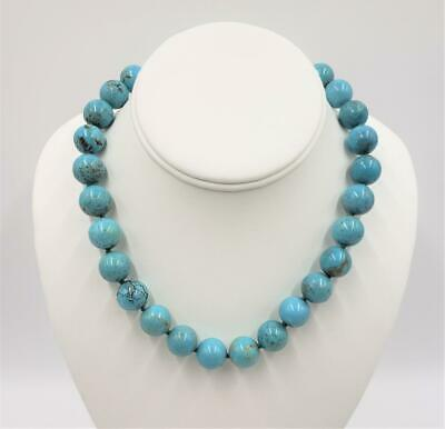 $ CDN75.93 • Buy Whitney Kelly WK 14mm Turquoise Bead 925 Sterling Silver Choker Necklace