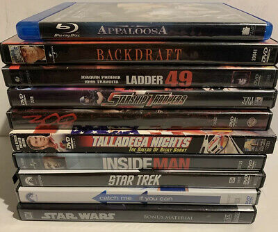 DVD / Blu-ray Lot 10 PG-13 R Rated Unrated Movies Backdraft Star Trek Appaloosa • 21.29£