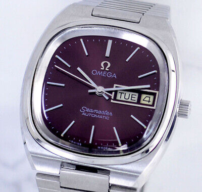 $ CDN1.25 • Buy Vintage Omega Seamaster Automatic Cal1020 Day&date Cherry Dial Men's Watch