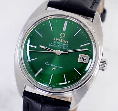 $ CDN31.01 • Buy Omega Constellation Chronometer Auto Cal564 Date Emerald Dial Men's Watch
