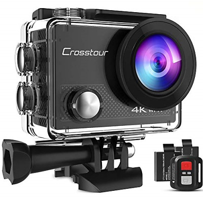 Crosstour Action Camera 4K 20MP Wifi Underwater 30M With Remote Control IP68 • 47.69£