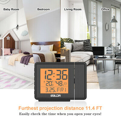 £19.78 • Buy Baldr New Projection Atomic Alarm Clock LCD Projector Display Wall Ceiling Time