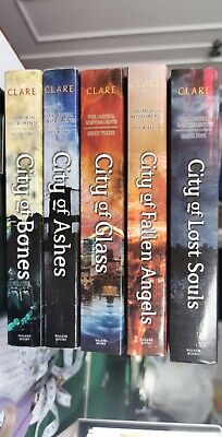The Mortal Instruments Series Books 1-5 By Cassandra Clare (Paperback) • 6£