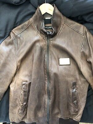 £360 • Buy Dolce And Gabbana Leather Jacket Men