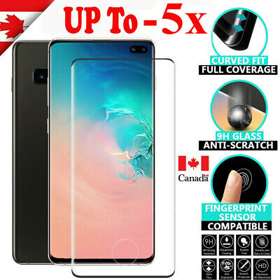 $ CDN5.99 • Buy For Samsung Galaxy S8 S9 S10 Plus S10e Full Tempered Glass Film Screen Protector