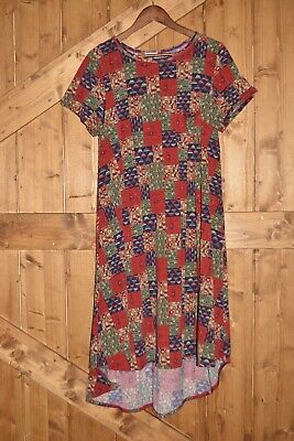 LuLaRoe Carly Women's Size Large High-Low Hemline Swing Dress Quilt Pattern NWT • 13.47£