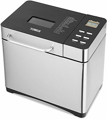 View Details Tower T11005 Digital Bread Maker With Keep Warm Function, 650 W, Silver • 49.99£