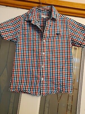Bluezoo 5-6 Years Red Blue White Check Shirt Dinosaur. Debenhams  • 0.99£