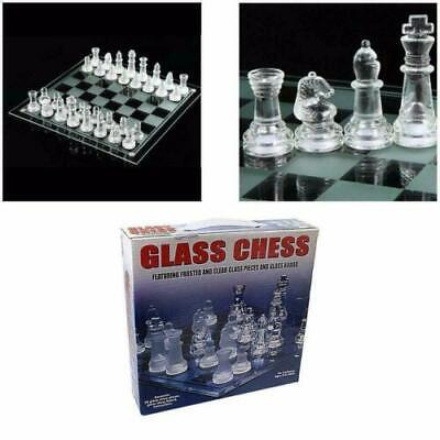 £14.24 • Buy Glass Board Traditional Chess Set Game Unique Beautiful Gift 32 Pieces Fun Party