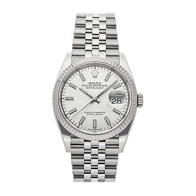 $ CDN11354.87 • Buy Rolex Datejust Auto 36mm Steel White Gold Mens Jubilee Bracelet Watch 126234
