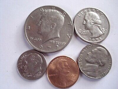 Job Lot Of 5 COINS  United States Of America • 4.25£