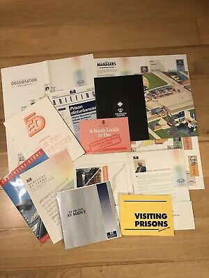 Vintage HM Prison Service. HMP Recruitment Literature & Documents 1990-1993 • 75£