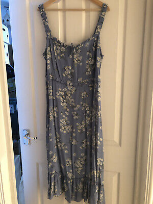 New Look Floral Summer Dress Size 18 • 2.40£
