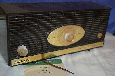 $ CDN112.77 • Buy 1950s Silvertone Radio Brown & Ivory AM Model 4-5 Sears Roebuck & Co Orig Manual