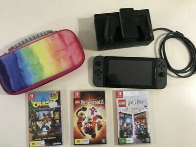 AU300 • Buy Nintendo Switch Grey Console With Games