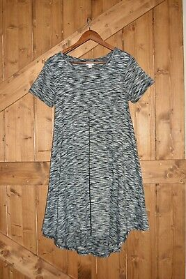 LuLaRoe Women's Size XS Carly High-Low Dress Black/White Pattern Gently Used • 5.79£