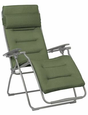 Lafuma Lounger Relaxing Chair Futura Be Olive Green Armchair • 307.63£