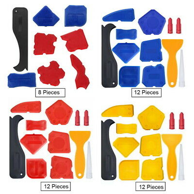 8/12pcs Silicone Sealant Spreader Applicator Profile Home Aid Grout Tile Tool • 7.23£