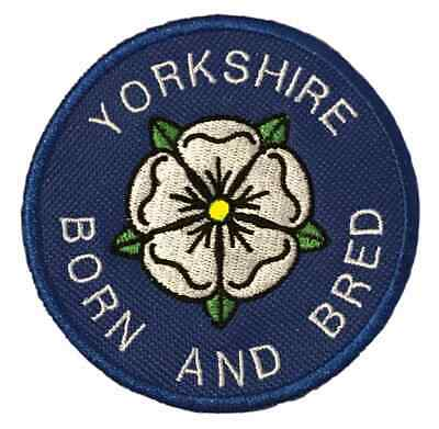 £4.50 • Buy Yorkshire County Born And Bred White Rose Embroidered Sew Or Iron On Patch (A)