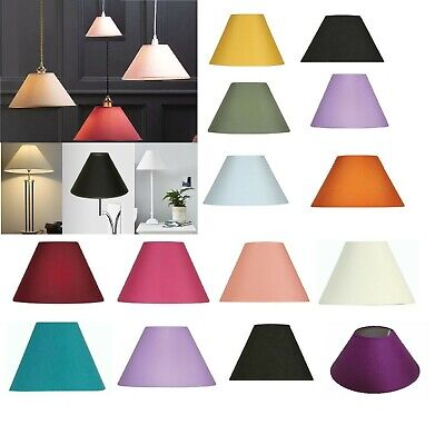 £10.99 • Buy  9  - 14  Cotton Fabric Coolie Easy To Fit  Light Shade Table Ceiling Lampshade