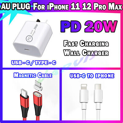 AU7.95 • Buy USB C Wall Charger AU Plug For IPhone 11 12 Pro Max IPad Type C Adapter PD 20W
