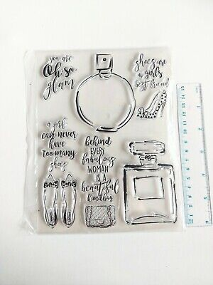 Clear Large Silicone Stamps Craft Mixed Media, Scrapbooking Card Making • 3.70£