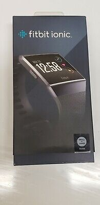 $ CDN63.44 • Buy Fitbit Ionic Smartwatch Charcoal With Smoke Gray Band Large