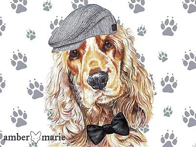 £2.99 • Buy Single Large Luxury Cocker Spaniel Father's Day Birthday Greeting Card - CAP