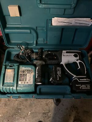 Makita Sds Drill + 2 3ah Batteries And Charger • 99£