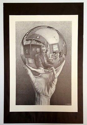 $29.99 • Buy RARE Hand With Reflecting Sphere By M C Escher Art Print Fantasy Poster Vintage