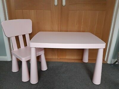 Ikea Mallut Pink Table And Chair • 10£