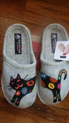 Haflinger Slippers, Grey, Size 40, New In Box • 53.31£