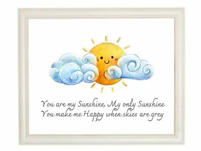 £3.99 • Buy You Are My Sunshine Nursery Children's Wall Art Print A4 Son Daughter New Baby