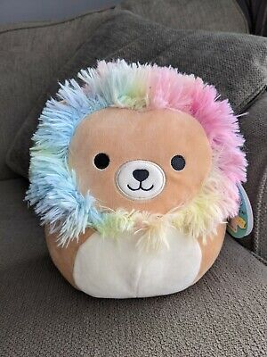 $ CDN30 • Buy Squishmallows 8  Leonard Pastel Rainbow Mane Lion BNWT VHTF 2020 Richard Plush