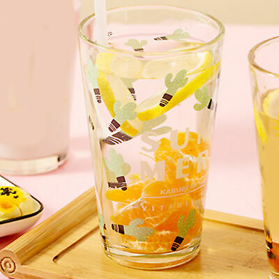 450ml Water Glass Bottle Mug With Lid And Drinking Straw, Lovely Cup  Mug • 10.58£