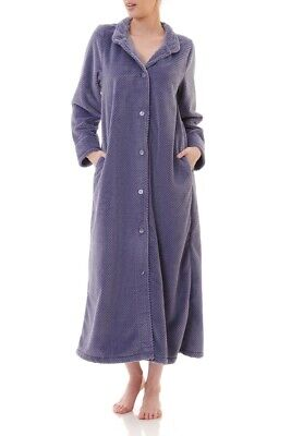 AU89.95 • Buy Ladies Givoni Luxury Button Dressing Gown Long Robe Purple (45)