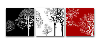 Canvas Giclee Print Photo Paintings Home Decor Wall Art Trees Abstract Framed • 3.99£