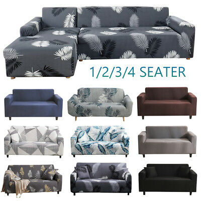 AU21.99 • Buy Sofa Covers High Stretch Lounge Slipcover Protector Chair Couch Cover L Shape