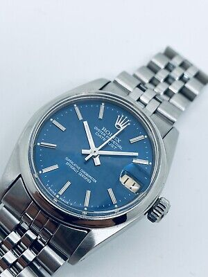$ CDN1799.77 • Buy Vintage Rolex Oyster Perpetual DateJust Mid Size 31mm Rare Blue Dial Ref. 6800