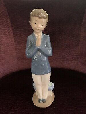 Nao Lladro Figurines Praying Boy Vamos A Rezar -  01223 Mint Condition • 20£