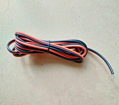 £2.95 • Buy 2-Core Stranded Electronic Wire  Red & Black Flat Ribbon Cable 16AWG 1.8m