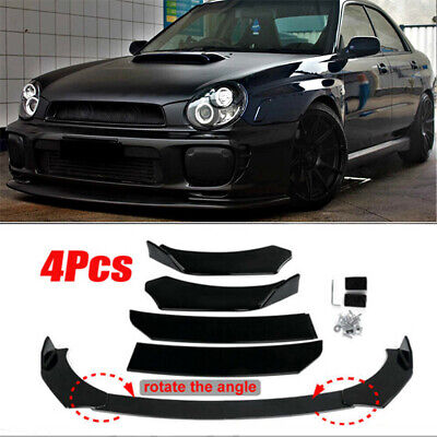 $79.07 • Buy For Subaru WRX STI Impreza BRZ Glossy Black Front Bumper Lip Splitter Spoiler US