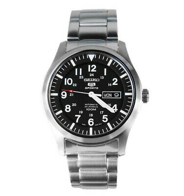 $139.95 • Buy Seiko Military Black Dial Automatic Stainless Steel Men's Watch SNZG13K1