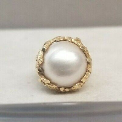 $979.95 • Buy Vintage 14k Yellow Gold Mabe Pearl Ring